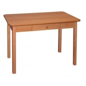 Jídelní stůl se zásuvkou Patrik, masiv/lamino, 90x60 cm