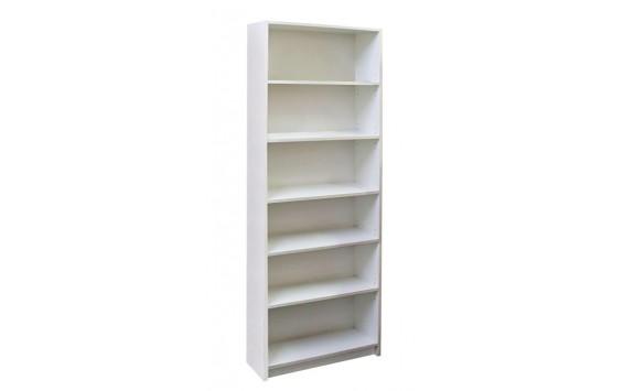 Regál, policová knihovna IA29B, lamino bílá