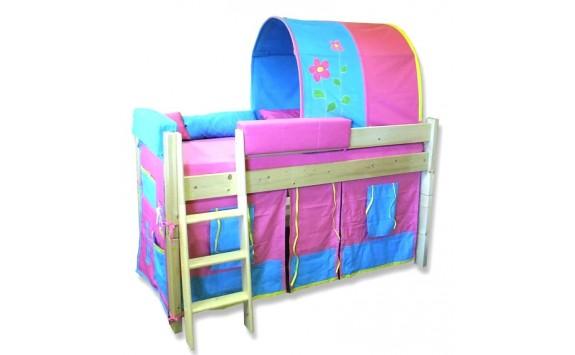 Dětská postel - zvýšené jednolůžko Sendy 300/02, masiv smrk