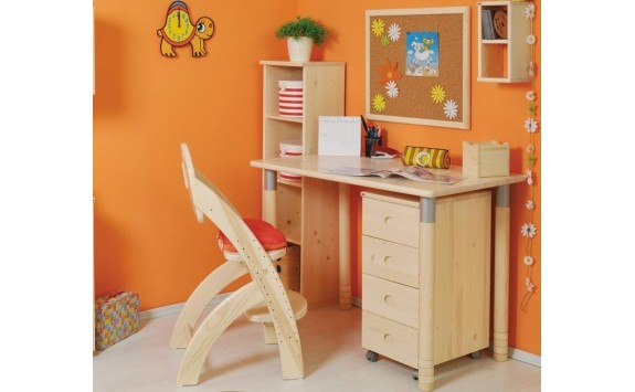 Rostoucí psací stůl MINI D727 - Domino, masiv smrk