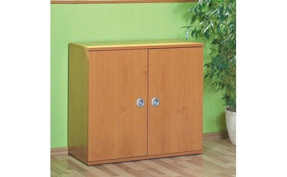 Skříňka policová široká s dveřmi Miki-04, olše