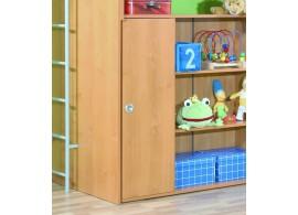 Skříňka policová úzká s dveřmi Miki-09, olše