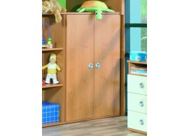 Skříňka policová široká s dveřmi Miki 10, olše