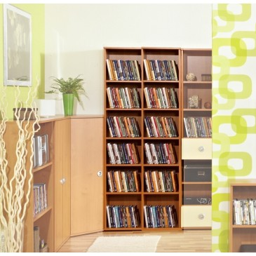 Knihovna vysoká - regál Miki 13, olše