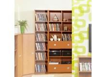 Knihovna se zásuvkami Miki 14, olše