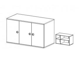 Nástavec na třídveřovou skříň Miki 23, olše
