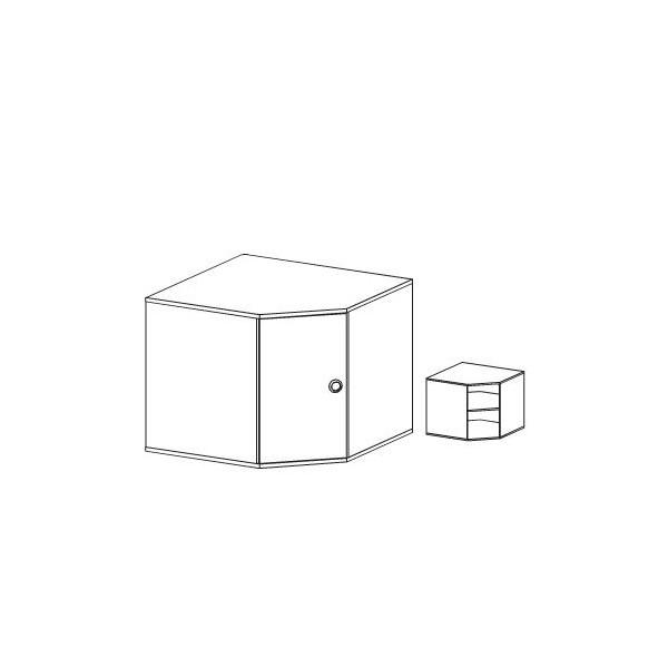 Nástavec na skříň rohovou Miki 24, olše