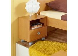 Noční stolek na kolečkách Miki 40, olše