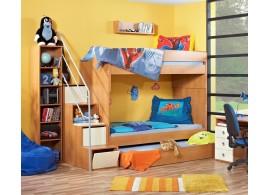 Poschoďová postel se schůdky Miki 2036, olše