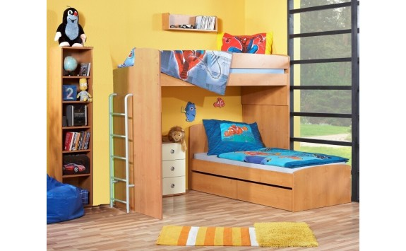 Poschoďová patrová postel elko Miki 2051, olše