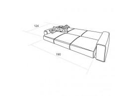 Taiga - regál široký vysoký 4 zásuvky N810-NATUR
