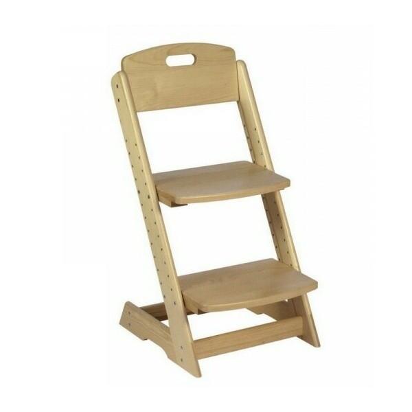 Dětská rostoucí polohovací židle H-046, masiv smrk