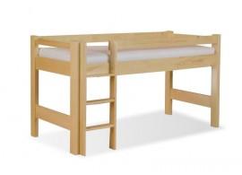 Zvýšené jednolůžko - dětská zvýšená postel 90x200 LUCAS, masiv smrk