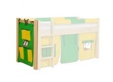 Textilní kapsář malý H-108, zeleno-žlutý