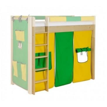 Látkový domeček velký 3-dílný H-109, zeleno-žlutý