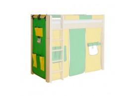 Textilní kapsář velký H-110, zeleno-žlutý
