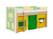 Látkový domeček malý 3-dílný H-107, zeleno-žlutý