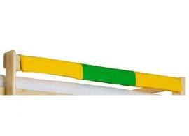 Látkový chránič na postele - zábrany 160 cm H-112, zelený, žlutý