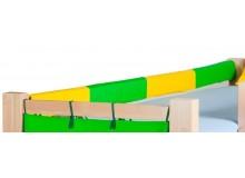 Látkový chránič na postele - zábrany 200 cm H-113, zelený, žlutý