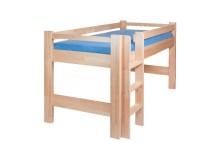 Zvýšené jednolůžko - dětská zvýšená postel 90x200 LUCAS, masiv buk