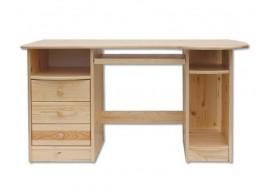 Psací PC stůl pracovní- DREW-102, masiv borovice
