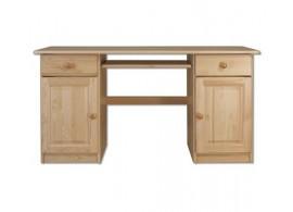 Psací PC stůl pracovní- DREW-101, masiv borovice