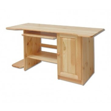 Psací PC stůl - DREW-111, masiv borovice