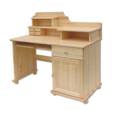 Psací PC stůl - DREW-112, masiv borovice
