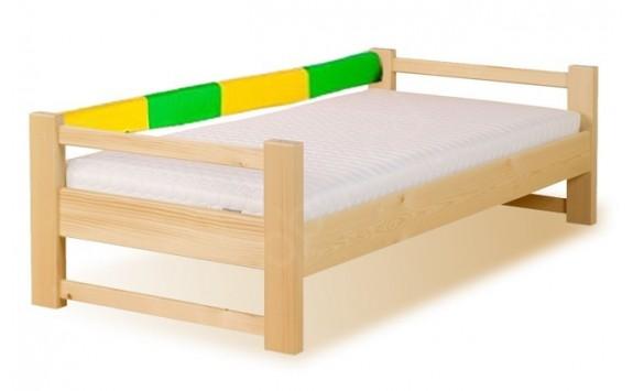Dětská postel se zábranou LUCAS, masiv smrk