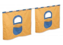 Textilní domeček 5 boční - ke zvýšeným postelím DOMINO - ZT