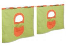 Textilní domeček 5 boční - ke zvýšeným postelím DOMINO - OZ