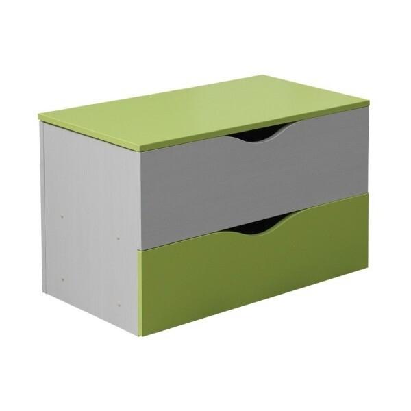 Krabice na hračky CR101, zelená-bílá