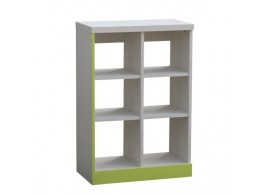 Knihovna - policový regál CR102, zelená-bílá