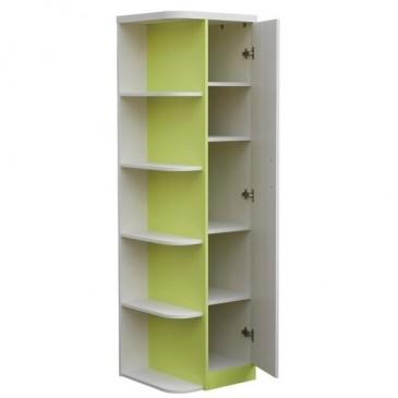 Šatní skříň jednodvéřová CR105, zelená-bílá