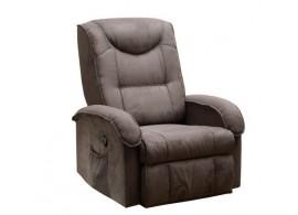 Relaxační a masažní křeslo IAK38, hnědé