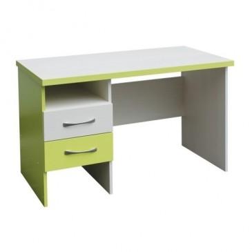 Psací PC stůl se šuplíky CR010, zelená-bílá