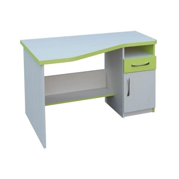 Psací PC stůl CR012, zelená-bílá