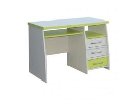 Psací PC stůl se šuplíky CR060, zelená-bílá