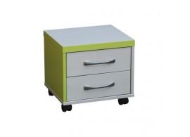 Kontejner k psacímu stolu CR052, zelená-bílá