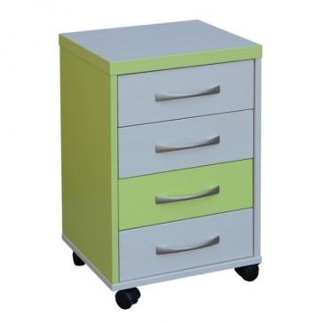 Kontejner k psacímu stolu CR054, zelená-bílá