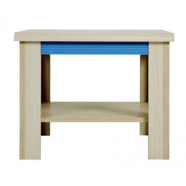 Konferenční stolek LAW/60, dub-modrá