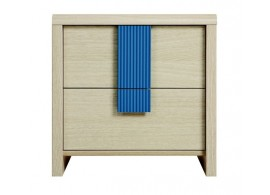 Noční stolek KOM2S, dub-modrá