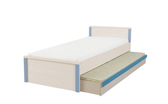 Úložný prostor - přistýlka pod postel LOZ/85D, dub-modrá