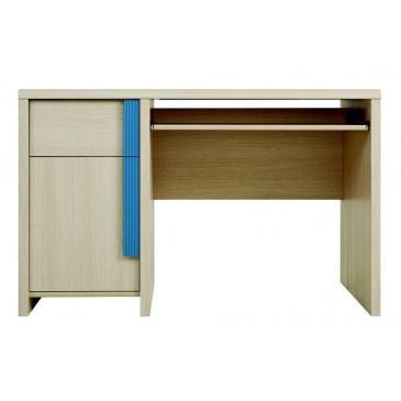 Psací stůl BIU/120, dub-modrá