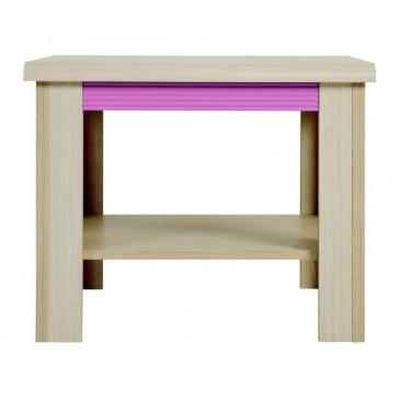 Konferenční stolek LAW/60, dub-růžová
