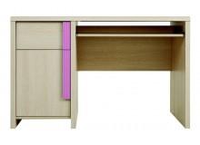 Psací stůl BIU/120, dub-růžová