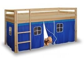 Dětská zvýšená postel IA832 s domečkem NEMI, modrá