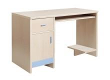 Psací PC stůl FAN-80, javor-modrá