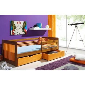 Dětská postel s úložným prostorem KLARIS, masiv borovice