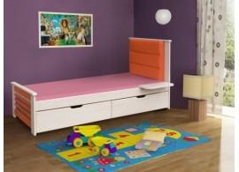 Dětská postel s úložným prostorem MATY, masiv borovice